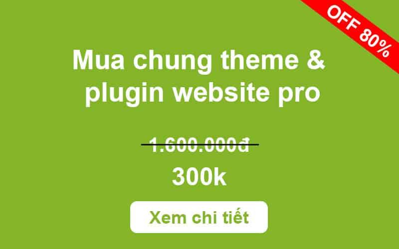 Mua chung theme & Plugin Pro cập nhật mới nhất 300k (Giá gốc 1,6 triệu)